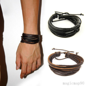 PU-Leder Wickel-Armband