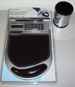 Mauspad mit Rechner