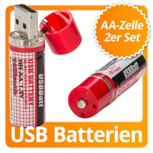 Wiederaufladbare USB-Batterie