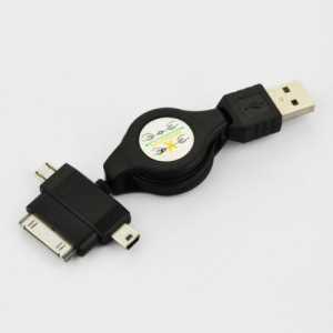 ausziehbares Mini- und Micro USB-Kabel