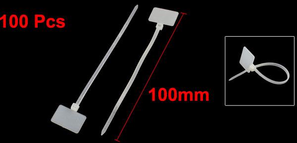 100 x kabelbinder mit beschriftungsfeld f r 4 25 euro. Black Bedroom Furniture Sets. Home Design Ideas