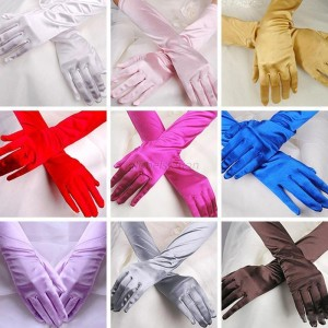 lange Satin Handschuhe