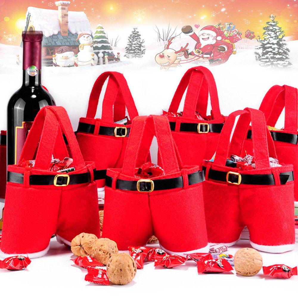 10x Weihnachten Santa Hosen Geschenk/Süßigkeiten Tasche für 11,99 ...