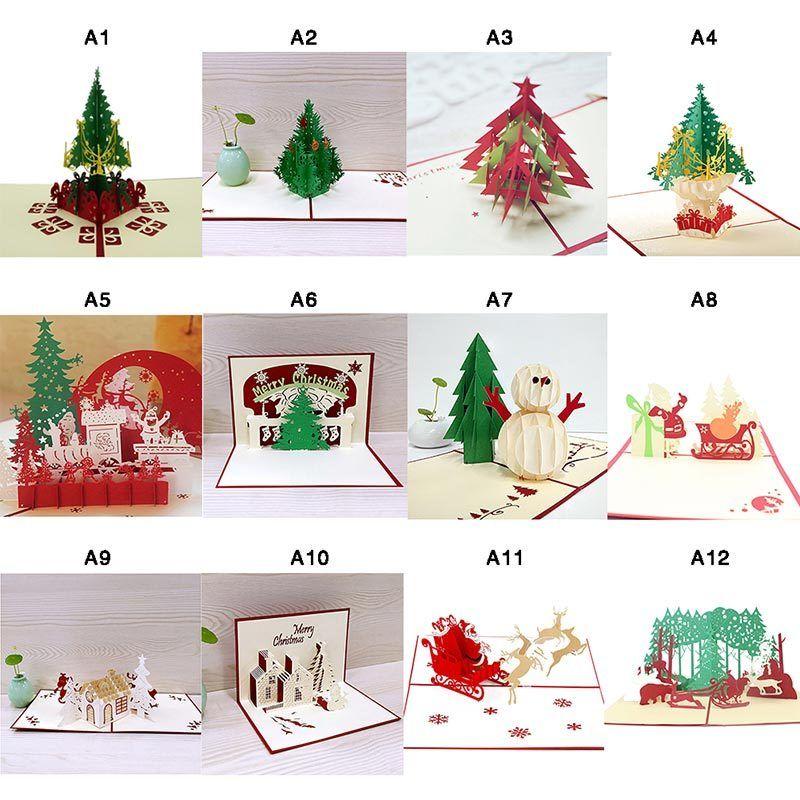 pop up 3d weihnachtskarten klappkarten christmas f r je 1 inkl versand. Black Bedroom Furniture Sets. Home Design Ideas