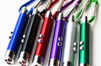 3-in-1 Laserpointer-Schlüsselanhänger + LED-Taschenlampe + UV-Licht für 1,09€ inkl. Versand