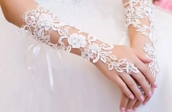 Fingerlose Perlen/Strass Brauthandschuhe für 2,05€ inkl. Versand