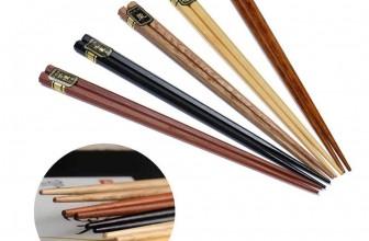 5 Paar Bambusholz Ess-Stäbchen für 3,67€ inkl. Versand