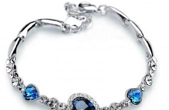Blaues Strass Herz-Armband für 1,21€ inkl. Versand