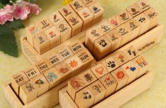 12-teiliges Holz Stempelset für 2,30€ inkl. Versand