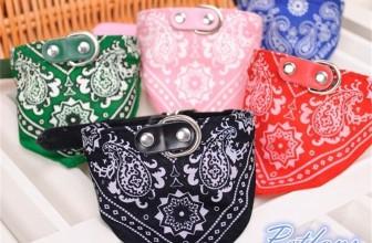 Hunde Halsband mit Dreieck-Tuch für 1,42€ inkl. Versand