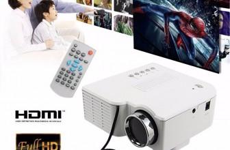 Tragbarer Mini HD 1080P LED Projektor Heimkino LCD Beamer für 31,95€ inkl. Versand