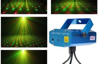 Mini Disco Laser Projector Licht mit Stativ für 11,99€ inkl.Versand