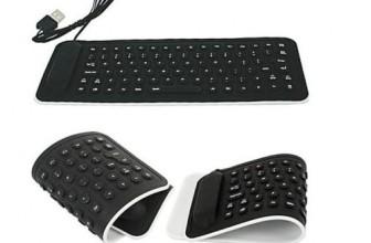 Faltbare, flexible USB Mini Silikon-Tastatur für 4,92€ inkl. Versand